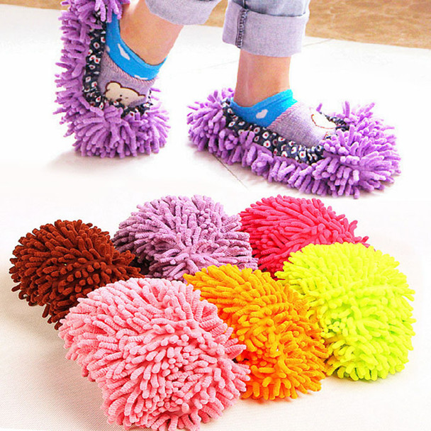 2pcs Floor Dust Cleaning Slipper Multifunction Microfiber Lazy Shoes Cover Mop Cleaner Home Cloth Clean Cover Mophead Overshoe