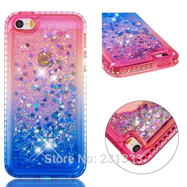 Liquid Quicksand Diamond Bling Soft Tpu Case For Iphone X Xs Max Xr 8 7 Plus I7 6 6s 5 Se 5s Glitter Heart Clear Cover Skin 1pcs