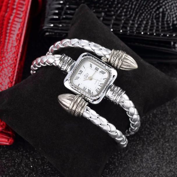 2018 Stylish Birthday Gift Lady Women Girl Female Snake Style Alloy Vintage Retro Bangle Bracelet Wristwatch Quartz Wrist Watch