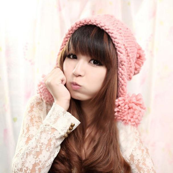 b0b22952405 Winter Knitted Hat Women Scarf Caps Mask Gorras Bonnet Warm Baggy Winter  Hats For Girls Skullies Beanies