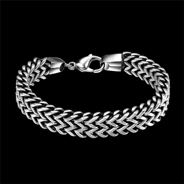 316L Stainless Steel Bracelet Men Luxury Mens Charms Bracelets Vintage Fashion Jewelry Chain Cuban Link Bracelet Male pulseira