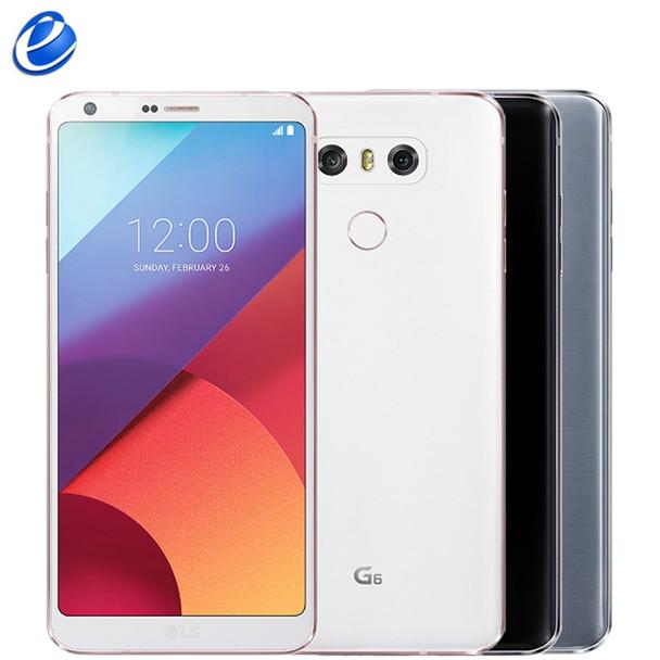 "2017 LG G6 Original Mobile Phone 4GB RAM 32GB 64GB ROM single sim H870 H871 Dual SIM H870DS 4G LTE 5.7"" 13.0MP cell Smartphone"
