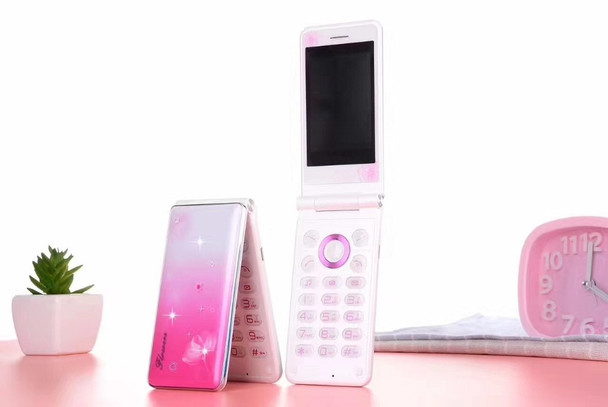 Original Flip Cute Mobile Phones Dual Sim Cards Touch Screen LED Flashlight Crystal keys 3D Speaker Big Battery Girls Cellphone