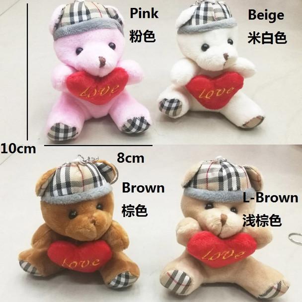 24pcs/lot Kawaii Mini Bear Plush Toys Stuffed Teddy Bear With Heart Doll Lovely Gift For Girls Kids Valentine's Gift