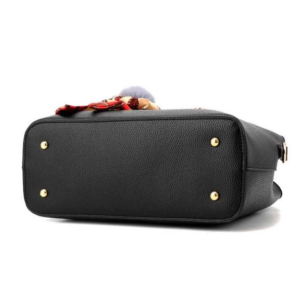 PU Leather Top-handle Women Handbag Solid Ladies Lether Shoulder Bag Casual Large Capacity Tote Crossbody Bags