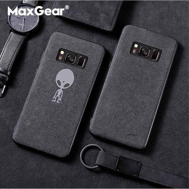 MaxGear Suede Fur Phone Case For Samsung Galaxy S7 Edge S8 S9 Plus Shell Leather Business Cover For Samsung Galaxy Note 8 9 Capa