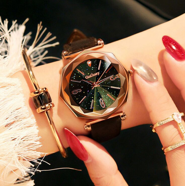 Hot Sales Fashion Gogoey Brand Rose Gold Leather Watches Women Ladies Dress Quartz Wristwatch Relojes Mujer go4418