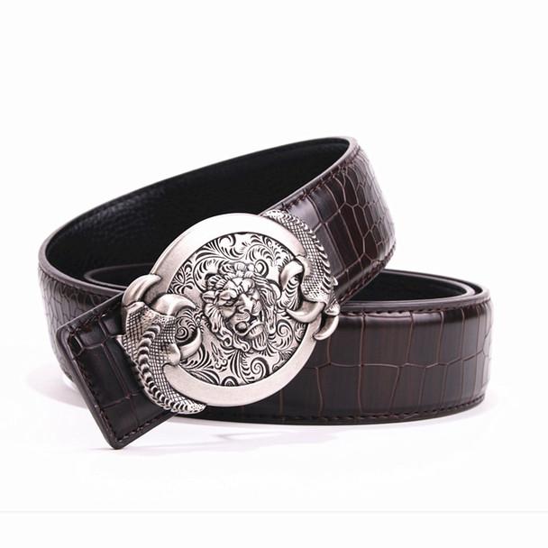 Multi-style crocodile pattern leather belt men's smooth buckle belt men's fashion designer belt male belt free shipping