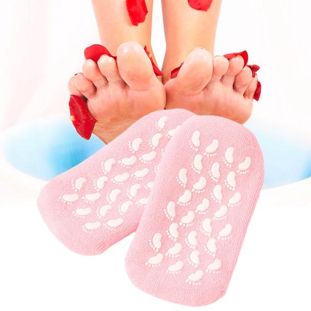Spa Gel Socks Moisturize Soften Repair Cracked Skin Gel Sock Skin Foot Care (Spa Gel Socks)