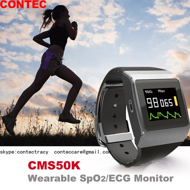 CMS50K Wearable SpO2/ECG Monitor Wireless Bluetooth Smart Calorie Monitor