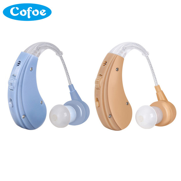 Cofoe Rechargeable BTE Hearing Aid for The Elderly / Hearing Loss Sound Amplifier Ear Care Tools 2 Color Adjustable Hearing Aids