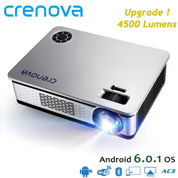 CRENOVA Newest Home Theater Projectors For Full HD 4k Android Projector With WIFI Bluetooth High Quality Proyector Beamer