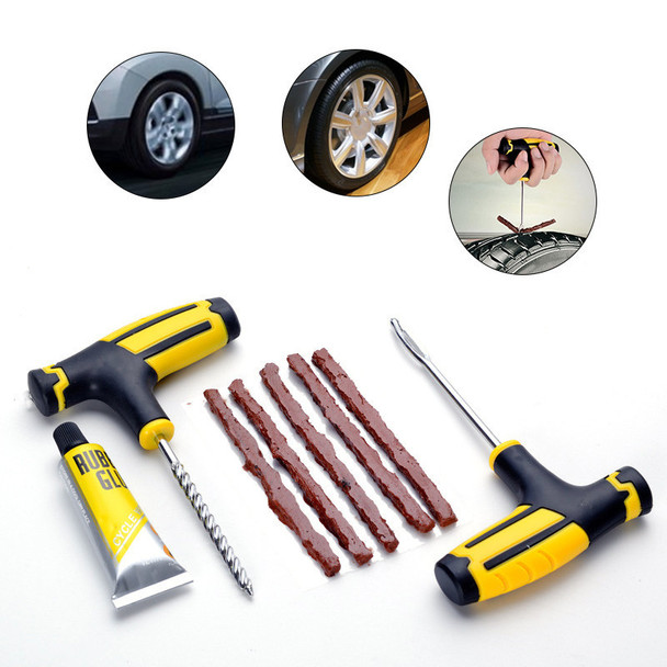One Set Car Tire Repairing Tools Set Car Vacuum Tires Repairing Tools Patch Car Professional Accessories Puncture Tubeless Tire