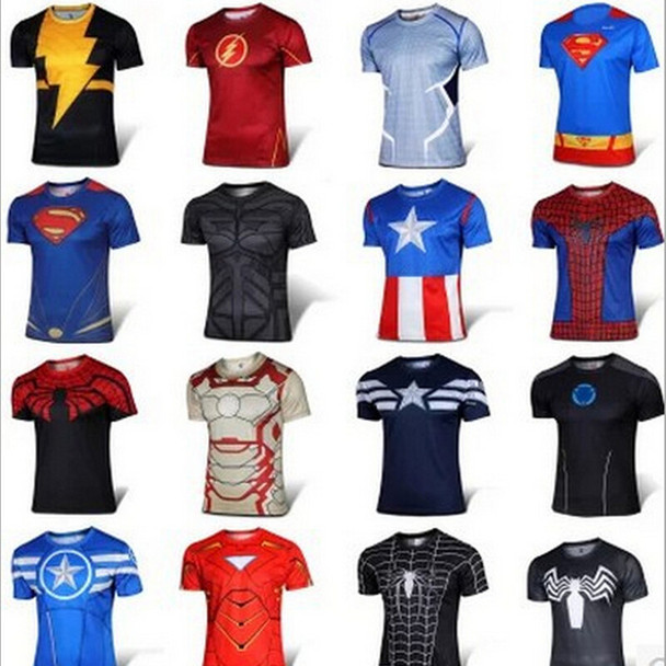 BERTHATINA Superhero T shirt Tee Superman Spiderman Batman Avengers Captain America Ironman t shirts Brand Clothing L-4XL
