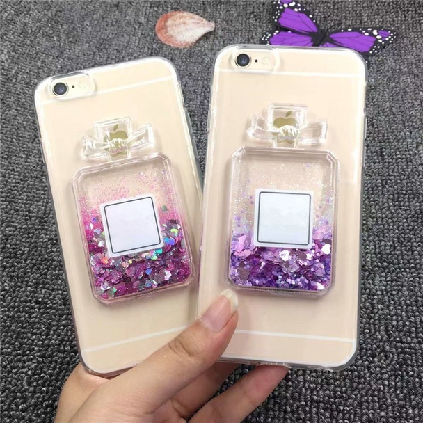 Luxury Bling Glitter 3D Perfume bottle Phone Case For iPhone 7 6 6S Plus Clear Dynamic Liquid Quicksand Cover For iPhone 5 5S SE