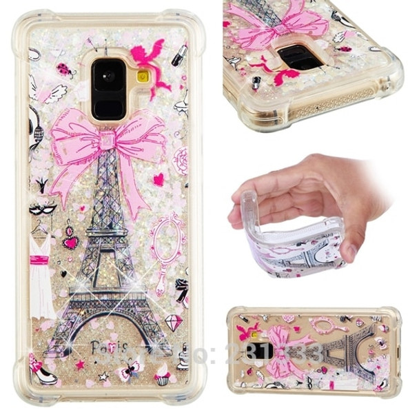 39a7976990b000 ... C-ku 3D Diamond Liquid Quicksand Glitter Soft TPU Case For Samsung  Galaxy A8 2018 ...