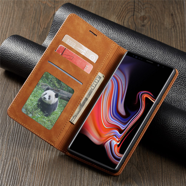 Luxury Leather Flip Case for Samsung Galaxy Note 9 S9 S8 Plus + Card Holder Magnetic Wallet Stand Phone Cases Book Cover Fundas