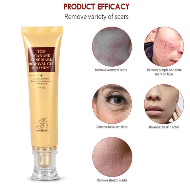 30g Women Skin Scar and Acne Mark Removal Gel Face Body Ointment Acne Postpartum Scar Repair Cream Skin Care TSLM2