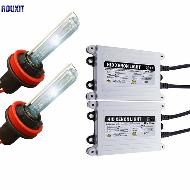 55W HID Xenon H7 Kit 12V AC Fast Start Hid H7 Xenon Kit 55W H1 H3 H4 H11 9005 9006 H27 For Car Headlight 5000k 6000k 8000k 12V