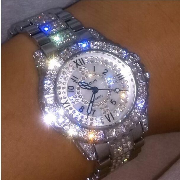 New style Women dress watch ceramic luxury brand full steel rose gold women rhinestone Watches casual Lady Bracelet Quartz Watch