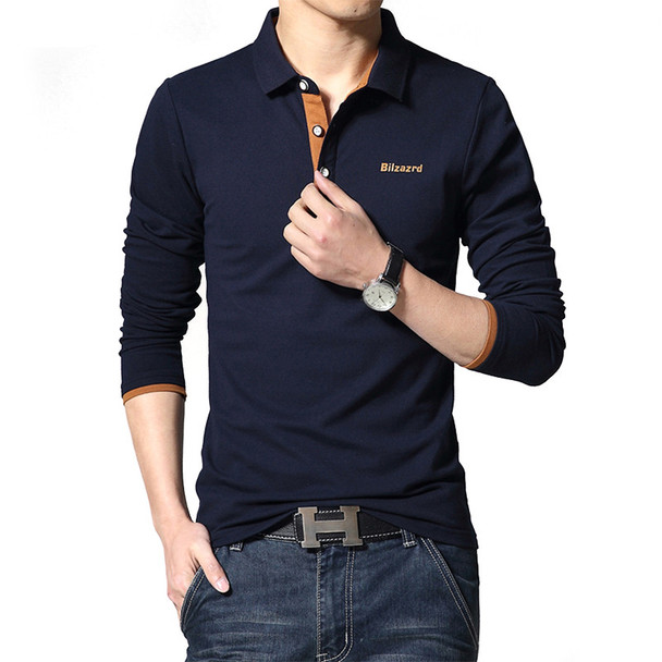 BOLUBAO 2018 New Brand Polo Shirt Men Spring Fashion Solid Color Mens Cotton Polos Casual Quality Long Sleeve Male Shirt M-5XL