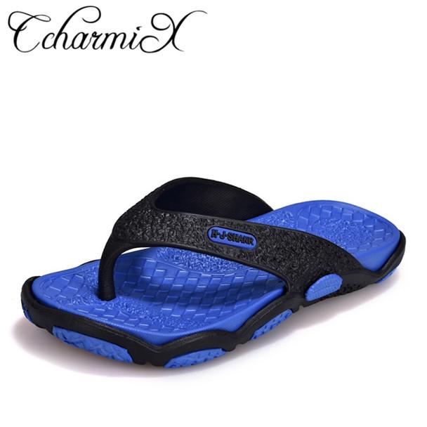 93ebef6ac CcharmiX Mens Flip Flops Summer Men's New Style Rubber Soft Shoes Outdoor  Beach Men's Slippers Massage Men Footwear 2018