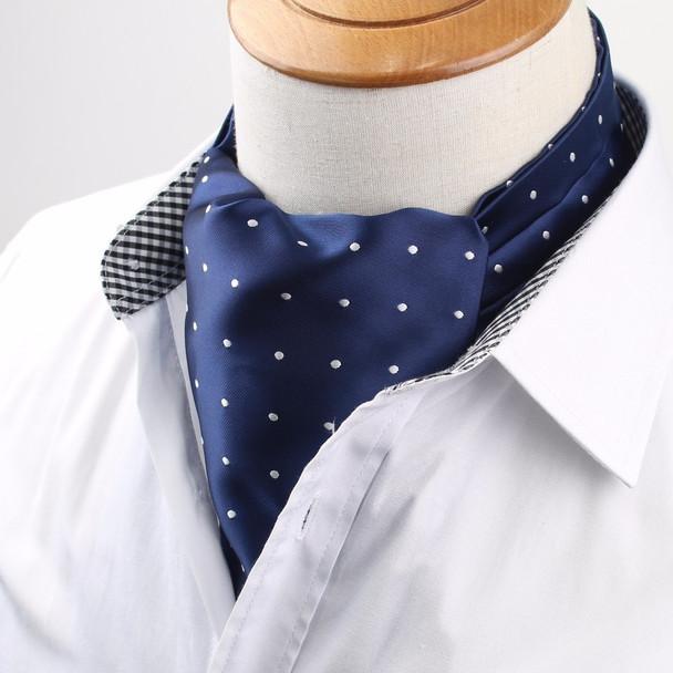 Hight Quantity Men's Vintage Necktie Formal Cravat Ascot Scrunch Self British Dot Gentleman Polyester Silk Neck Tie Luxury