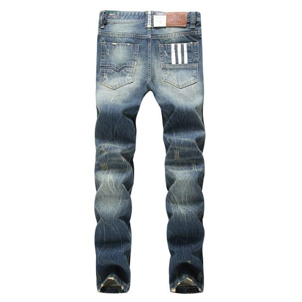 2018 Fashion Dsel Designer jeans men Famous Brand Ripped jeans Denim Cotton Jeans Men Casual Pants printed men jeans , 9003-A