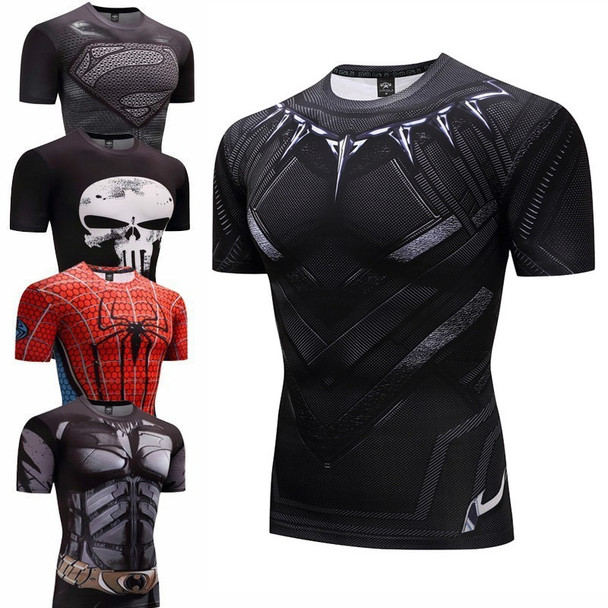 2018 T Shirt Captain America Superhero Winter Soldier 3D Printed T-shirts Fitness Men Crossfit men compression quick dry t-shirt