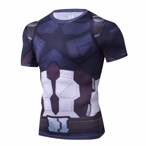 Captain America T shirts Avengers 3 Infinity War 3D Printed T-shirts Men Marvel Compressed Fitness Male joges Tight Tops
