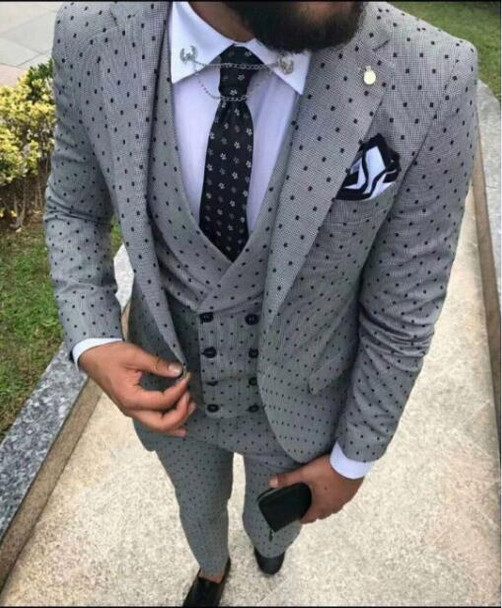 2018 latest coat pant designsNew men Wedding Suit mens suits with pants costume homme mariage three piece kingsman Groom gray