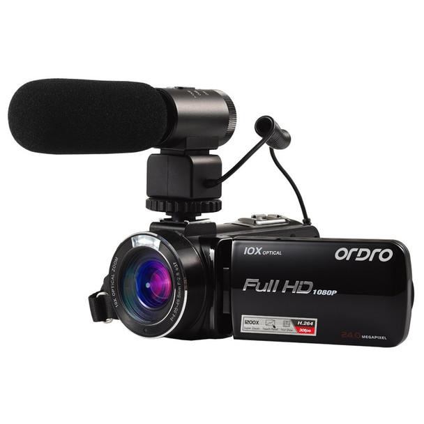 "ORDRO HDV-Z82 Video Camera 3.0"" TFT LCD Touch Screen  Videocameras Digital Zoom 10X Optical HD Camcorder Camera 24MP HDMI O"