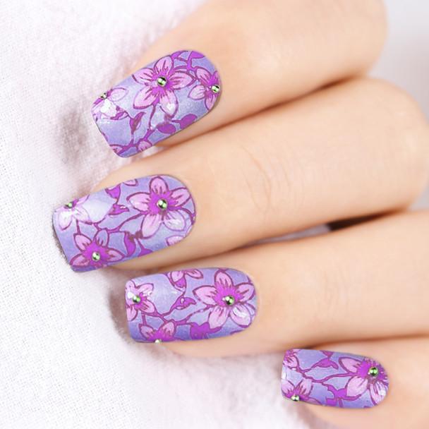 BORN PRETTY 6ml Purple Color Series Stamping Polish Lacquer Rose Red Nail Art Plate Printing Nail Polish Nail Lacquer