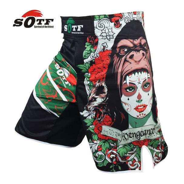 SOFT green the Beast mma combat training boxing breathable sports shorts Tiger muay thai boxing shorts pretorian boxeo mma pants
