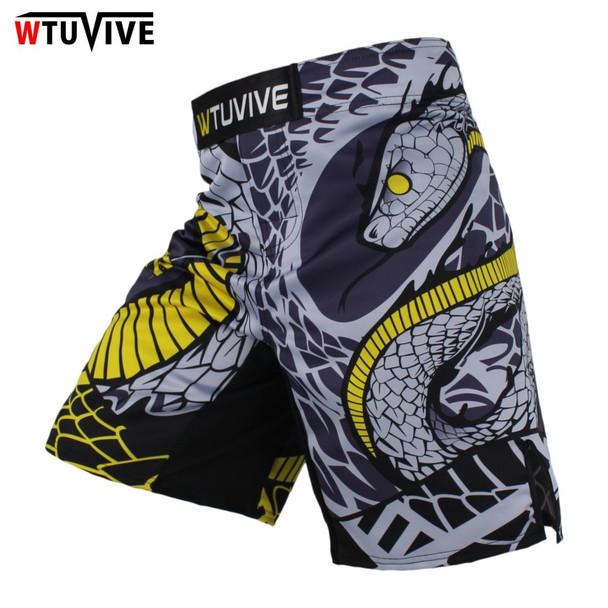WTUVIVE MMA Boxing Fitness Cats Fighting Sanda Sports Shorts Loose High Quality shorts mma muay thai clothing mma