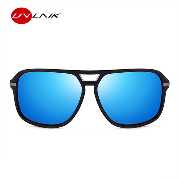 UVLAIK Oversized Sunglasses Men Polarized Mirror Goggles Driving Sun Glasses Man Brand Designer Retro HD Driver Sunglass