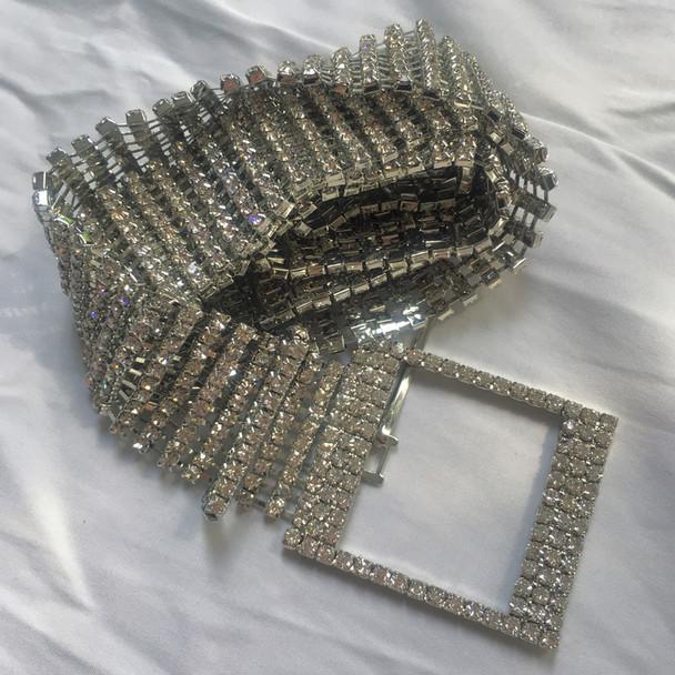 New metal chain belts Women's Diamante crystal Chain Belt Full Rhinestone bride wide Bling Female Crystal Waist Belt accessories