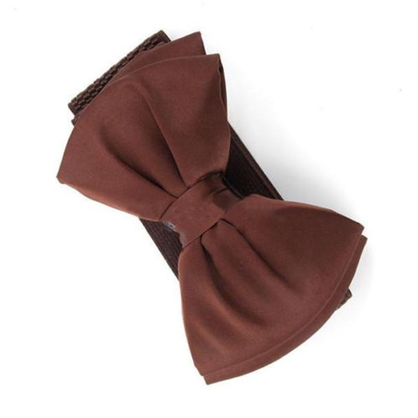 2017 New Arrival Fashion Women Lady Bowknot Stretch Elastic Bow Wide Stretch Buckle Waistband Waist Belt