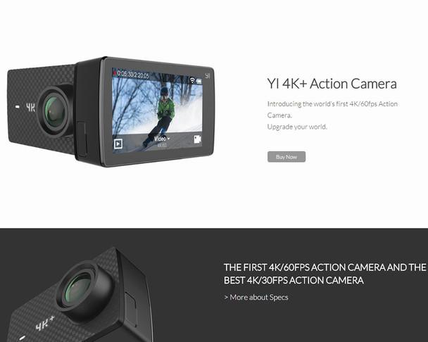 Original Xiaoyi YI 4K+ Action Sport Camera 4K + plus 2.19 Ambarella H2 for IMX377 12MP 155 4K Ultra HD Sports Camera