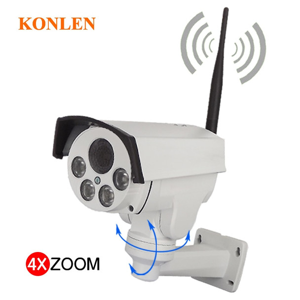 Camhi 1080P PTZ IP Camera Outdoor Waterproof WIFI 4X Optical Zoom 2MP Full HD Sony IMX323 322 Surveillance Security Bullet Onvif