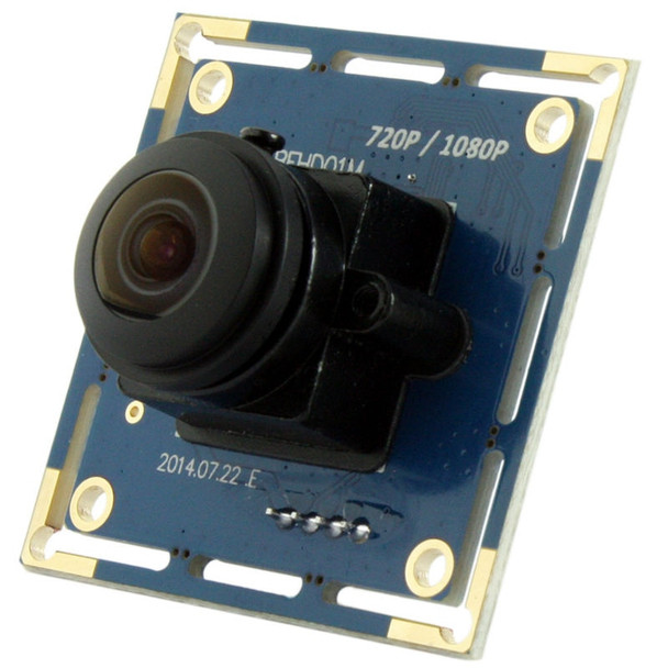 1080P HD Fisheye lens 180 degree field of view USB Security Webcam Camera for machine vision in Linux,support Raspberry Pi