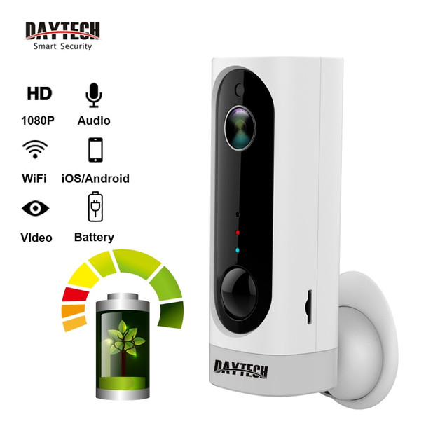 DAYTECH Wireless Battery IP camera 1080P/720P Security Wifi Camera Audio PIR Night Vision Full HD CCTV Network Cam iOS Android