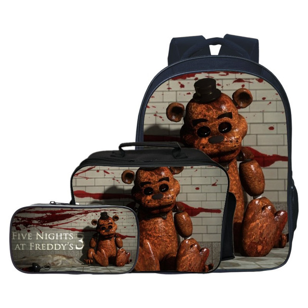 3pcs/set Fashion Cartoon Five Night At Freddy Children Backpacks Student Suit Bag Kids Baby School Bags Boys Schoolbag for Girls