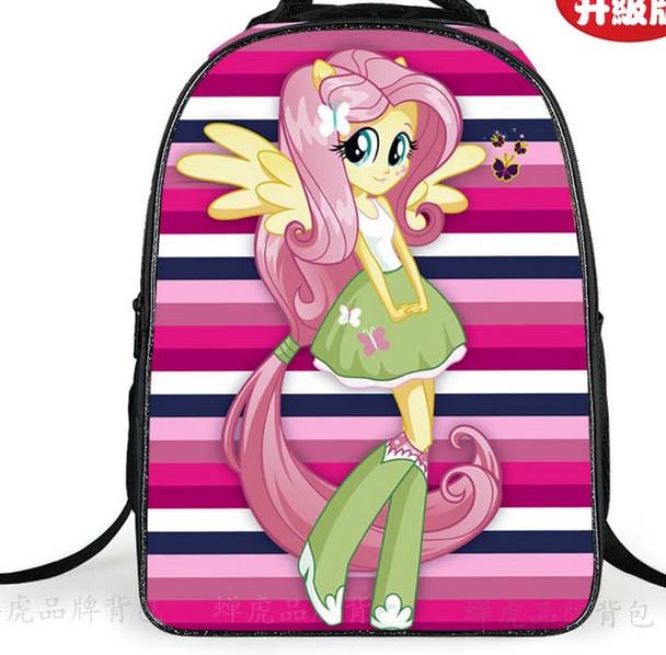 2018 Cute School Bags For Teenagers Girls Pony Horse Twilight Sparkle Backpack Kids SchoolBags Children Mochila