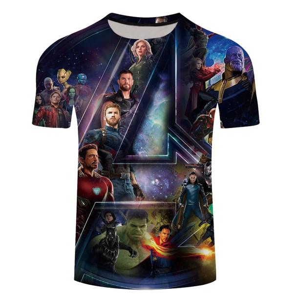 2018 Avengers 3 Iron spider man 3D Print T-shirt Men/Women Marvel Superhero T shirt fitness Clothing Man's quick-dry tee shirt