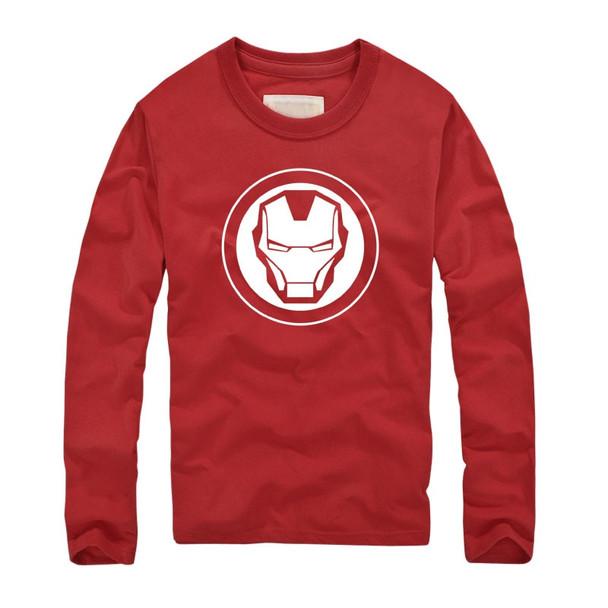 2018 Marvel Super Heroes Avenger brand Clothing Autumn Fitness T shirts America Super Hero Iron Man Printed Long Sleeves T-shirt