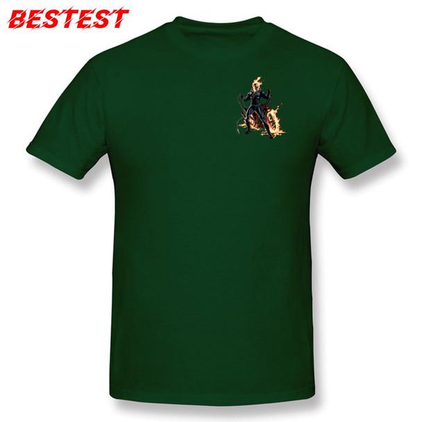 Navy Blue T-shirt Men Cool T Shirt Marvel Tshirt Avengers Alliance Streetwear Ghost Rider Tops & Tees 3D Custom Adult Clothes