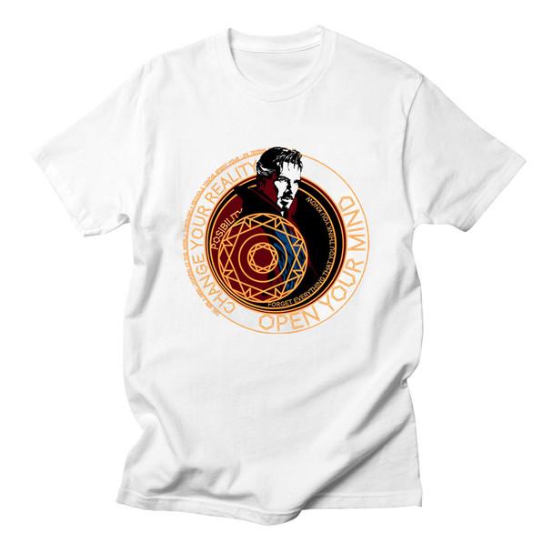 Voltreffer Doctor Strange Benedict Cumberbatch Men Unisex Classic Tees T-Shirts Movies Dr Strange Superheroes Marvel T Shirts