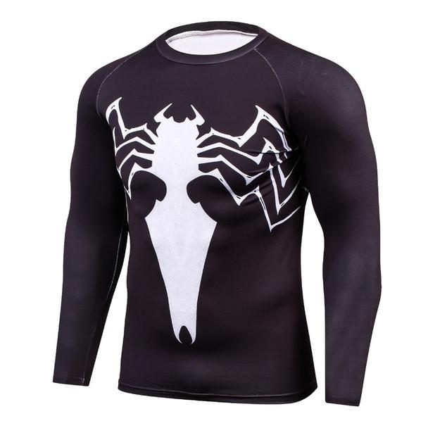 Newest 2017 Fashion Men T-Shirt Marvel Superhero Spider man T Shirt Jersey Men Fitness tee Compression Shirt Tights