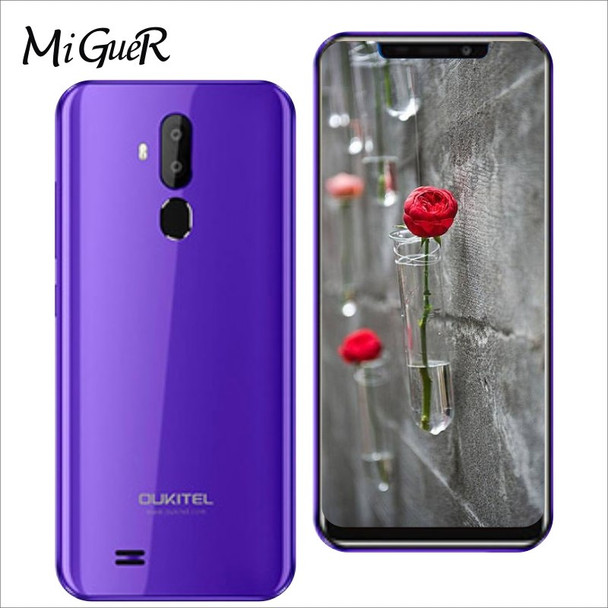 Oukitel C12 Pro 6.18 Inch 19:9 Android 8.1 Smartphone MT6739 Quad Core 2GB RAM 16GB ROM 3300mAh 8.0MP+5.0MP 4G LTE Mobile Phone